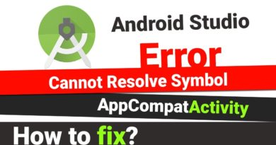How to fix cannot resolve symbol AppCompatActivity - Android Studio