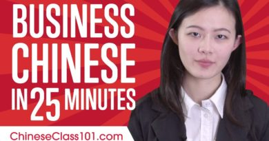 Learn Chinese Business Language 25 Minutes!