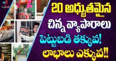 20 top small business ideas in telugu | Low cost business ideas telugu