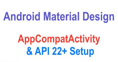 269 Android AppCompatActivity Example |