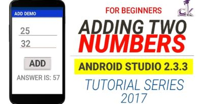 Adding Two Numbers Simple Android App Tutorial for Beginners (Android Studio 2.3.3)