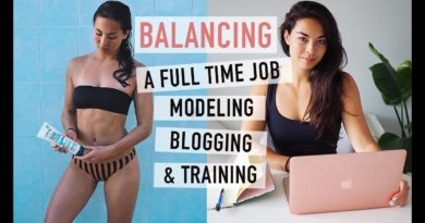 Balancing Modeling, Blogging and a Full Time Job   Full Week Breakdown