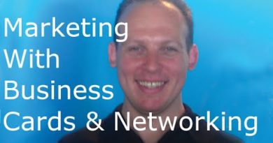 Business card marketing: marketing by giving out business cards and networking