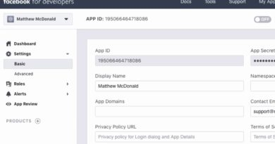 Creating A Facebook App - How To Setup A Facebook App And Get App ID And Secret
