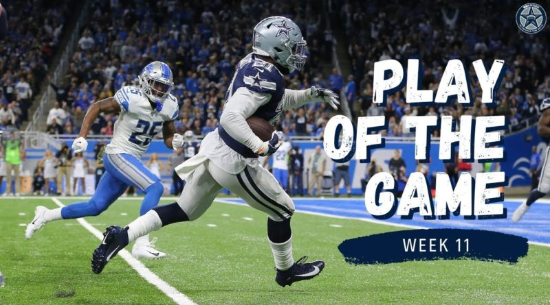 Ezekiel Elliott Touchdown Seals Win For Cowboys | Play of the Game | Blogging the Boys