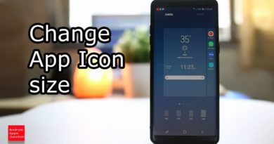 How to change app icon size for your android device (Note 8)