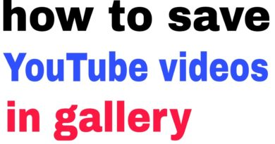 How to save YouTube video in gallery