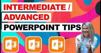 Microsoft Powerpoint - Intermediate/Advanced Tips and Tricks for Better Presentations