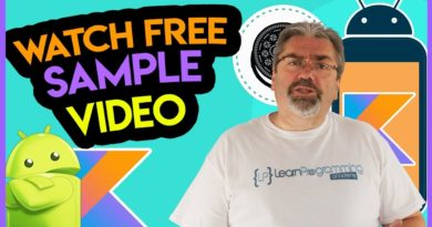Sample Course Training - Android App Development Masterclass using Kotlin on Udemy - Official