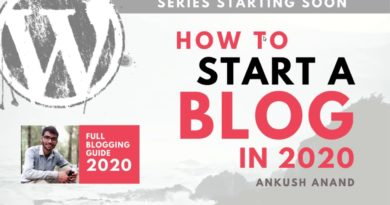#00 How to Start a Blog in 2020 | Full Blogging Guide 2020