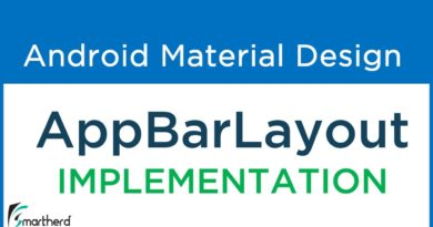 #7.2 Implementing Android AppBarLayout   Material Design Support Library