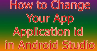 How to Change Your App application id in Android Studio (HIndi)