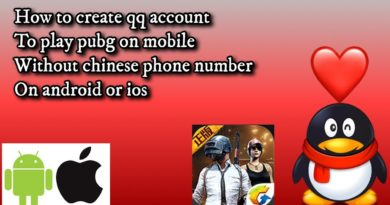 How to create qq account to play pubg on mobile using android or ios!