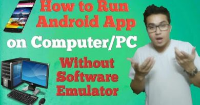 How to run android app without Emulator Software on your Computer/PC