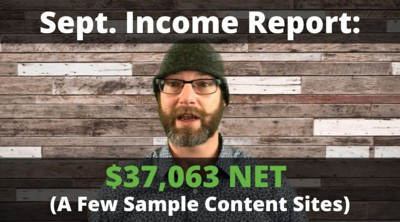 Sept. 2019 Blogging Income Report ($37,063 Net USD)