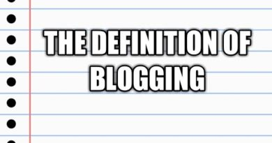 The definition of blogging