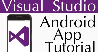 Visual Studio Android App Tutorial