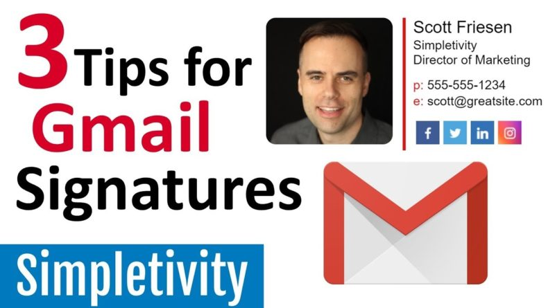 3 Ways to Make an Amazing Signature in Gmail (Email Tips)