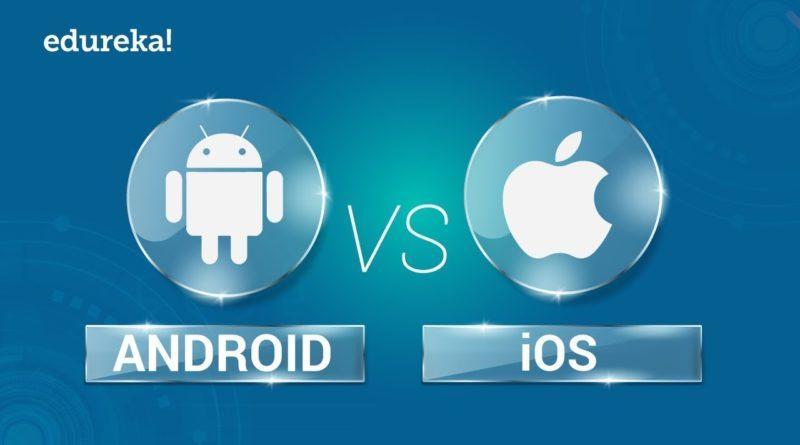 Android vs iOS    Comparison Between Android and iOS   Mobile App Development Training   Edureka