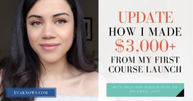 Blogging 101 Series: UPDATE: How I Made $3,000+ From My FIRST Course Launch!