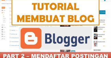 Cara Membuat Postingan Artikel di Blogspot / Blogger | Tutorial Blogger (part 2/13)