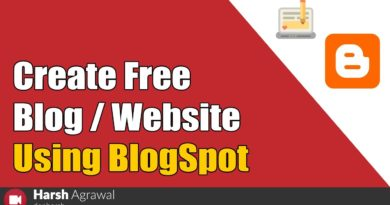 How to Create Free Blog/Website Using BlogSpot