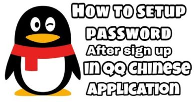 How to setup password after sign up in QQ Chinese APK || by #ligxt ||