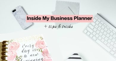 Inside My Business Planner | Tips and Tricks
