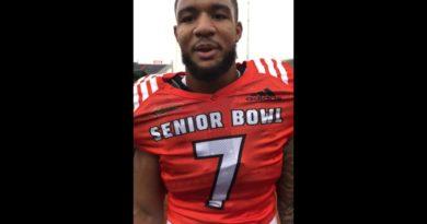Oshane Ximines talks to Blogging the Boys | Senior Bowl 2019