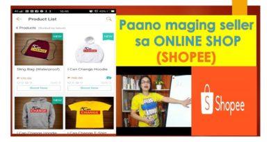 Paano maging seller sa online shop (Shopee)