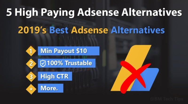 Top 5  Best Google Adsense Alternatives in 2019