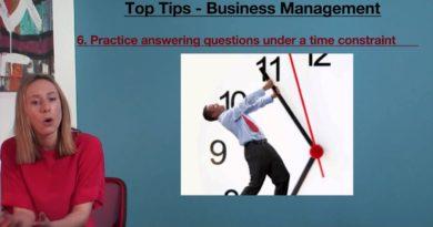 Top Tips - VCE Business Management