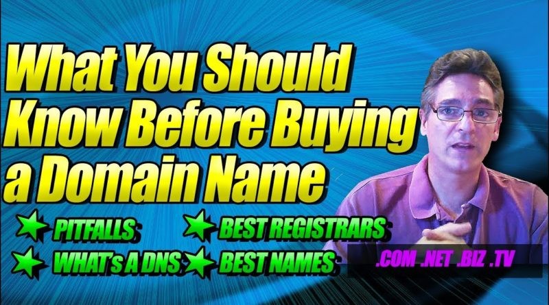What You Should Know Before Buying a Domain Name