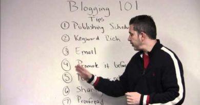 blogging 101 tips