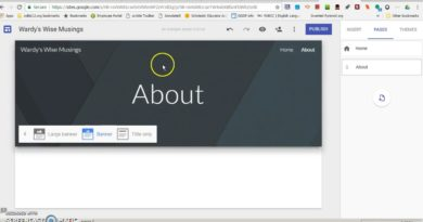 Blogging with google Sites