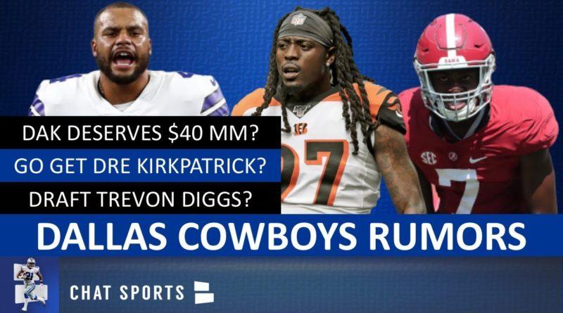 Cowboys Rumors: Dre Kirkpatrick? Draft Trevon Diggs? Dak Worth $40 MM? 3-4 Defense? Chidobe Awuzie?