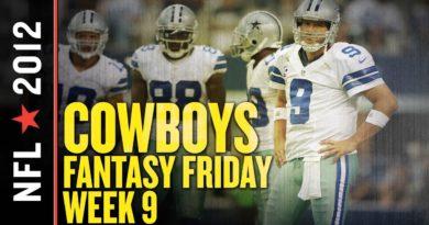 Dallas Cowboys Fantasy Football News and Notes, Week 9