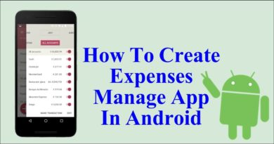Expense Manager Android App Project | Android Projects Source Code Download | College Project