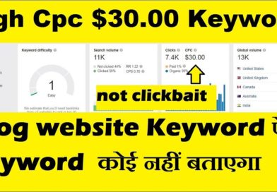 High Cpc $30 Health blog website keyword | low competition keywords with high cpc keywords research