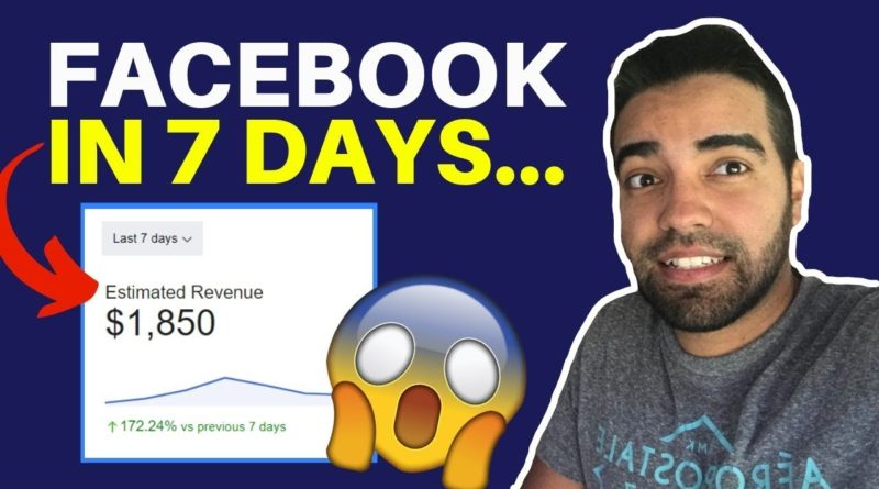 How To Make Money Online Blogging on Facebook ($1,850 Per Week)