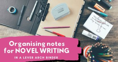 How to Organise Your NOVEL WRITING Notes in a Lever Arch File
