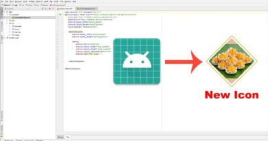 How to change icon app in android studio
