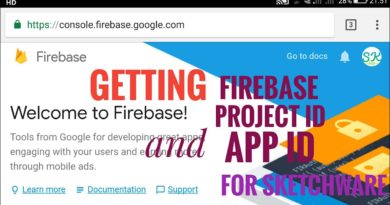 How to get firebase Project id and App id for Sketchware?