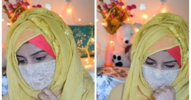Layered hijab Tutorial with full coverage