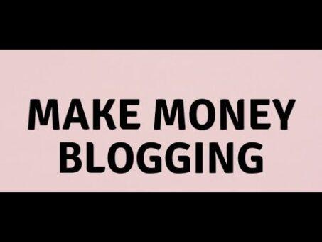 Make money blogging. Jobs online Work from home