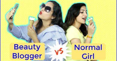 Normal Girl vs Beauty Blogger | #Sketch #Humor | Shruti Arjun Anand