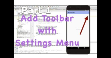 Add a Custom ActionBar (Toolbar) - Android Studio Tutorial (Part 1)