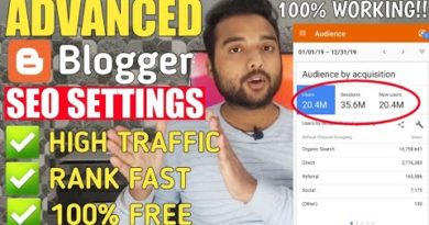 Advanced Blogger SEO Settings 2020 - Get Free Unlimited Traffic from Google   SEO Tips & Tricks 2020