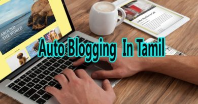 Auto Blogging in Tamil