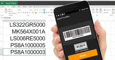 Barcode Scanner App for Android and iOS Scans into Word and Excel